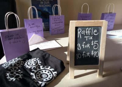 Some of the raffle prizes that were available