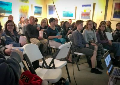 The audience... a full-house!