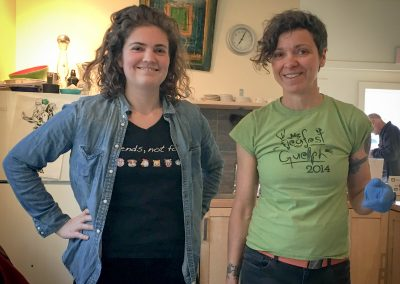 Katie and Robyn - Vegfest team members