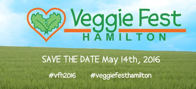 We'll be at Veggie Fest Hamilton May 14!