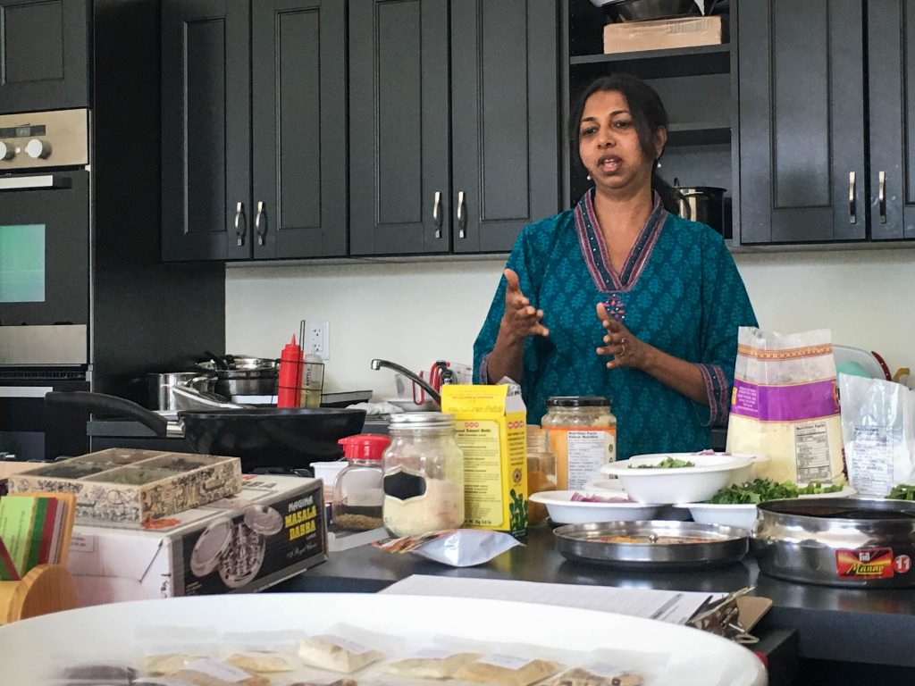 Chitra speaking about the benefits of spices.