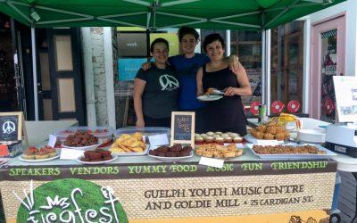 Scenes from Saturday's Vegan Bake Sale
