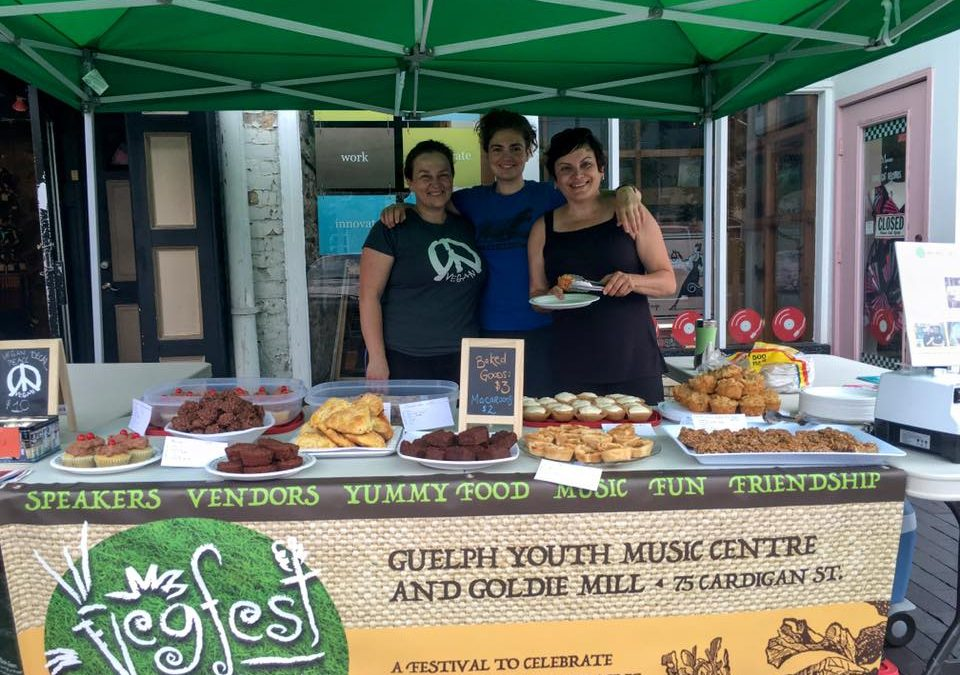 Scenes from Saturday's Vegan Bake Sale