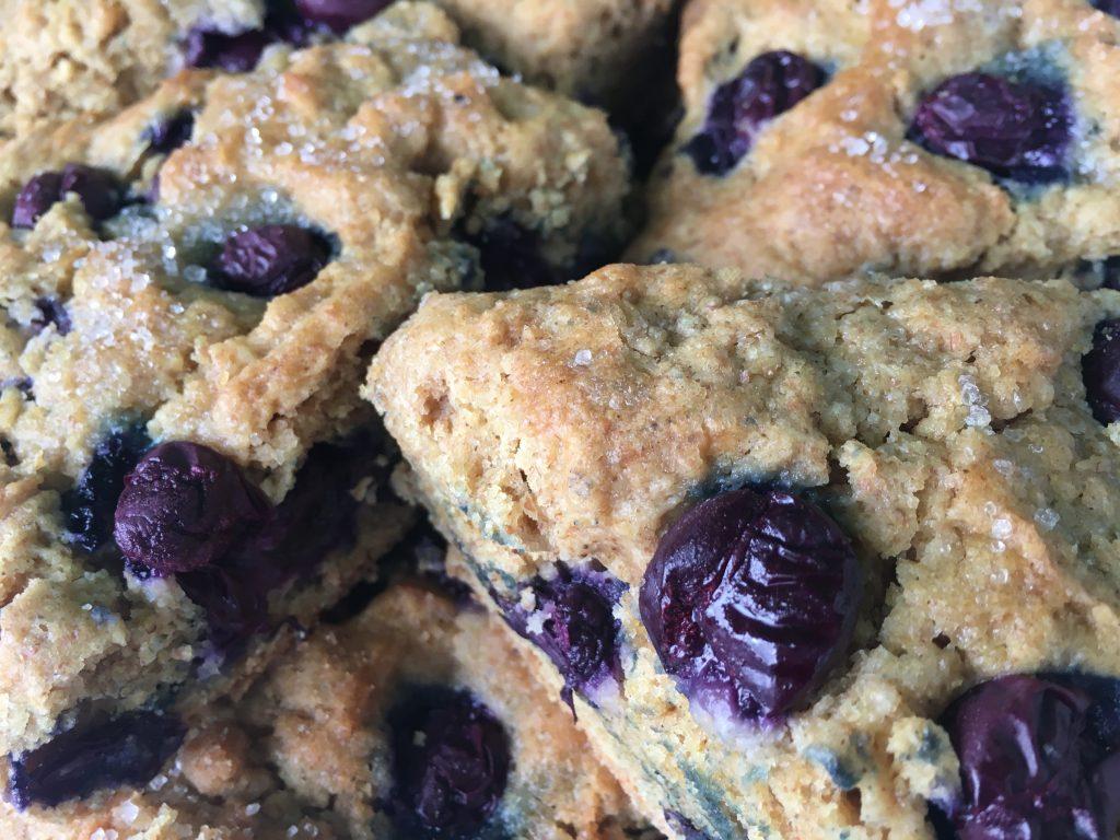 Spelt blue grape scones