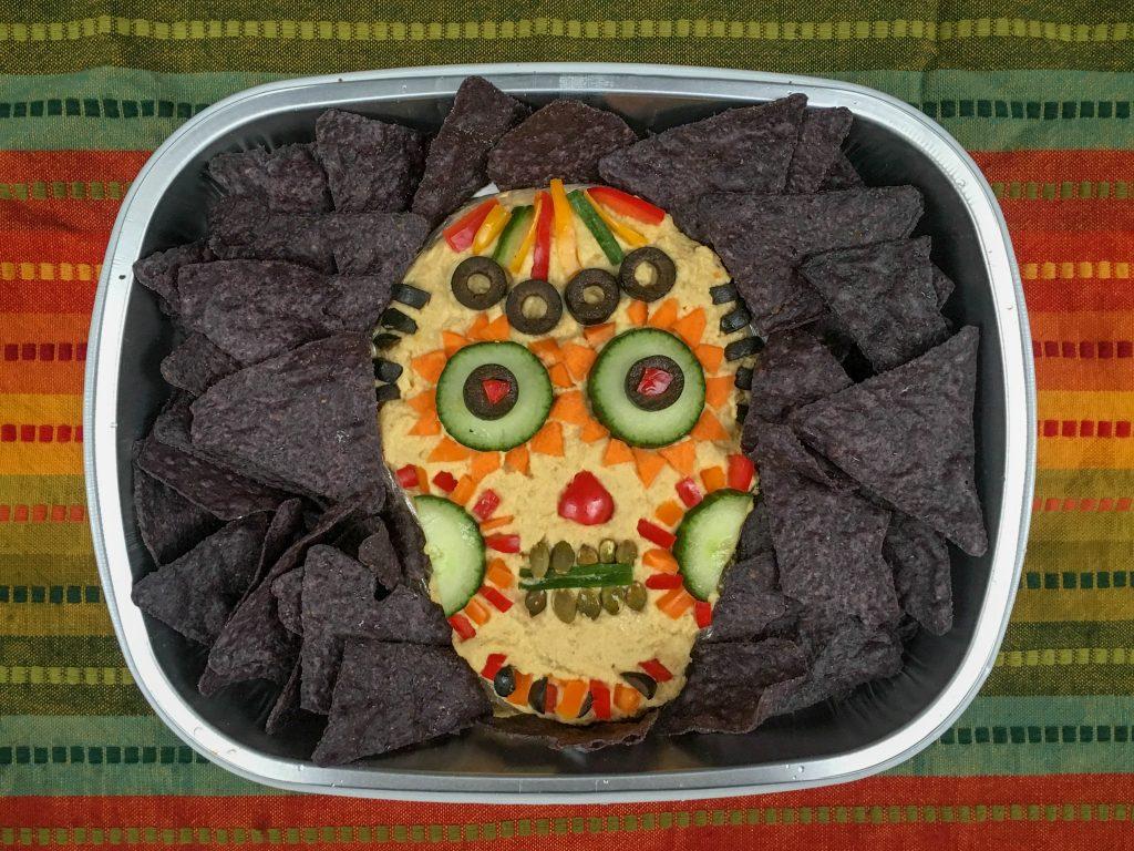 Halloween hummus