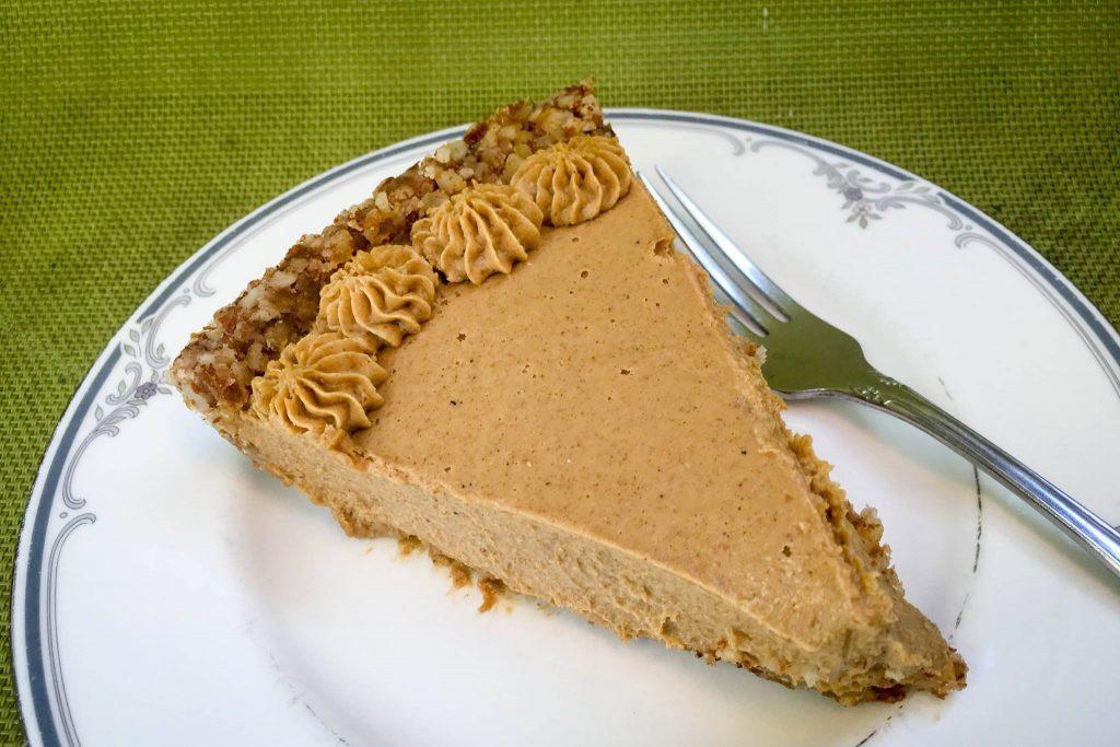 Rawlicious pumpkin pie